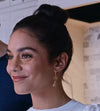 Vanessa Hudgens earrings worn on The Knight Before Christmas