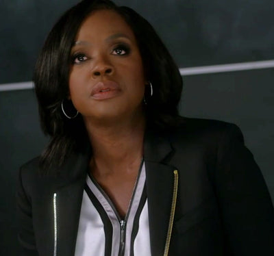 Jennifer hoop earrings worn by Viola Davis on How To Get Away With Murder