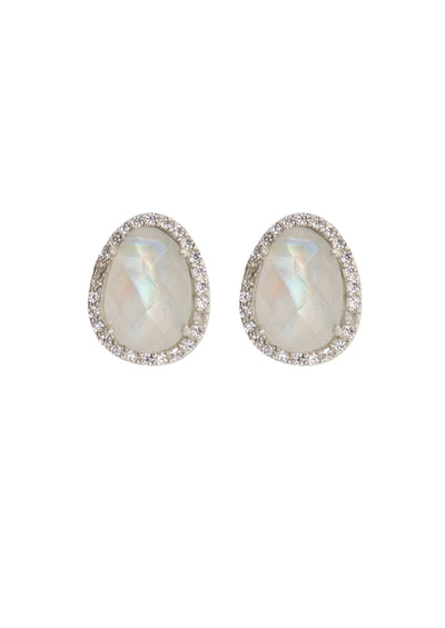 Winslet Rainbow Moonstone Silver Earrings