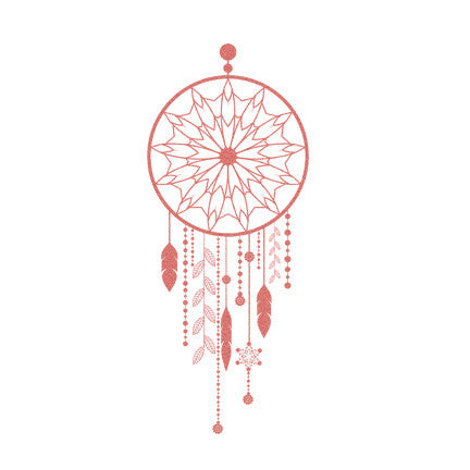 dreamcatcher peach temporary tattoo by tattstr