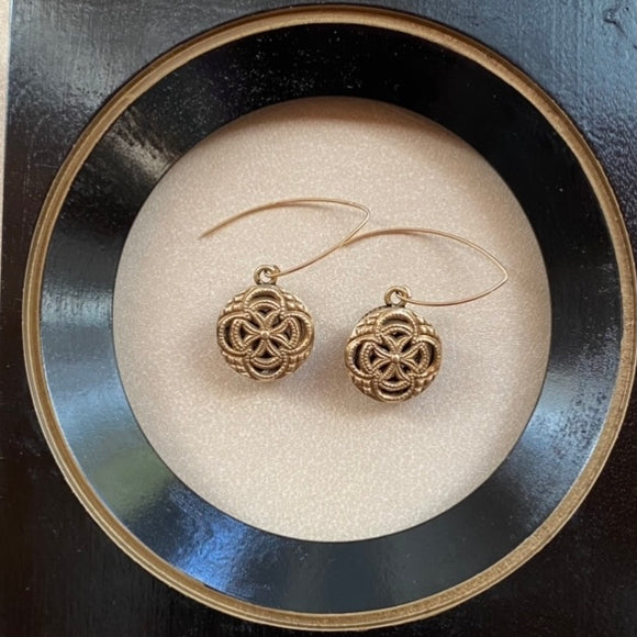 Antique Button Earrings