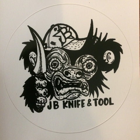 "JimBob ""The Knife Wielding Monkey"" Sticker"