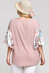 FLORAL BUBBLE SLEEVE
