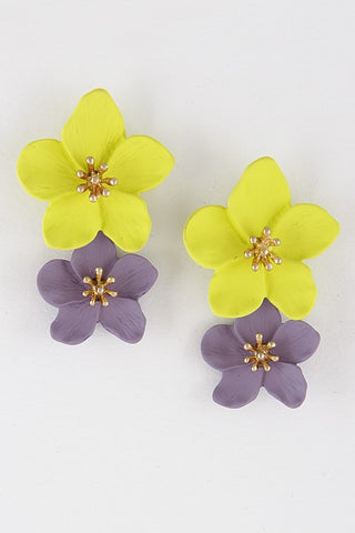 DOUBLE FLOWER EARRINGS