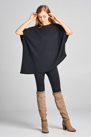 ASHTEN ASYMMETRIC HEM SWEATER