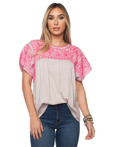 GREEK PINK TOP