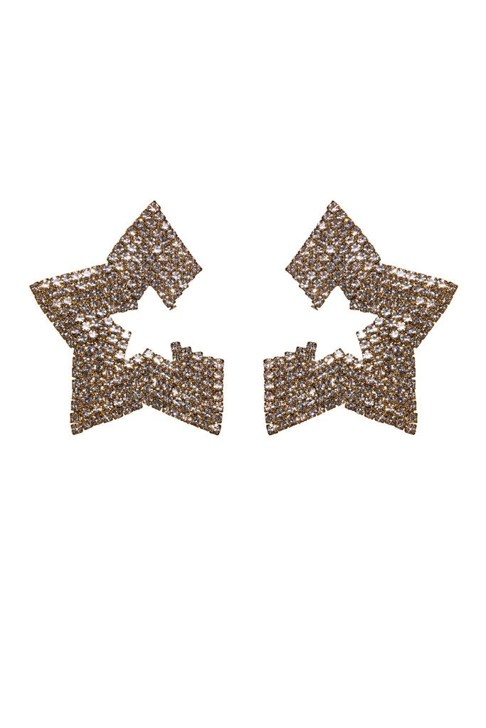 BUDDYLOVE TAURUS STAR STUDDED EARRINGS