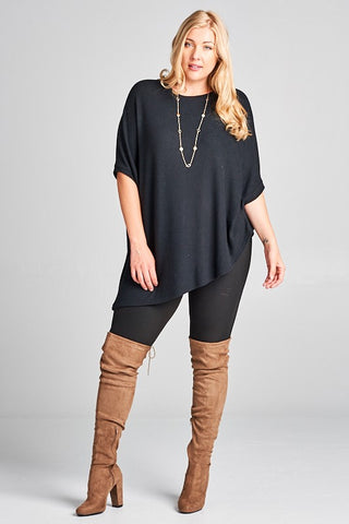 ASHTEN ASYMMETRIC HEM TOP