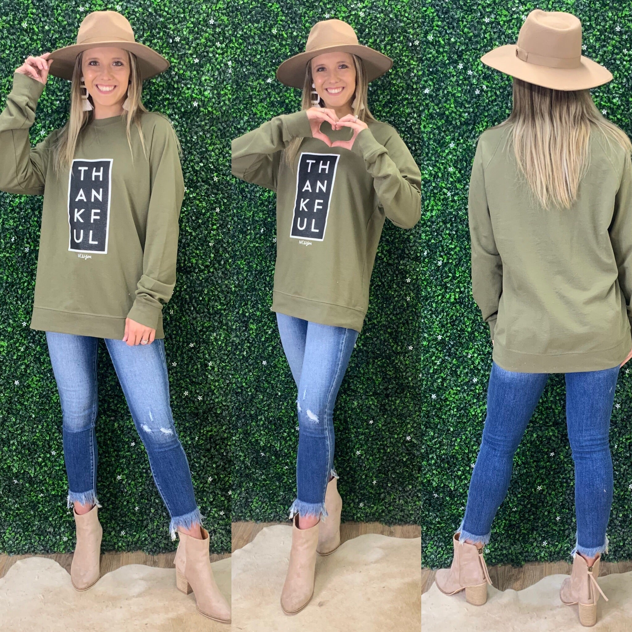 THANKFUL OLVE SWEATSHIRT