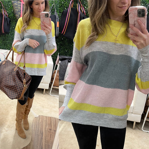MARLO STRIPE KNIT SWEATER