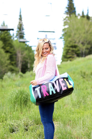 TRAVEL BLACK DUFFLE