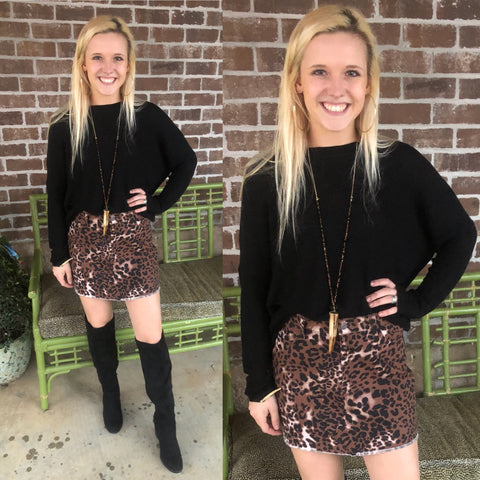 GIRLS NIGHT OUT LEOPARD SKIRT