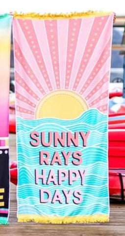 SUNNY RAYS AND HAPPY DAYS TOWEL