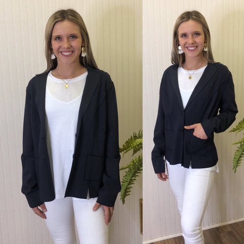 REVERSIBLE BUTTON JACKET