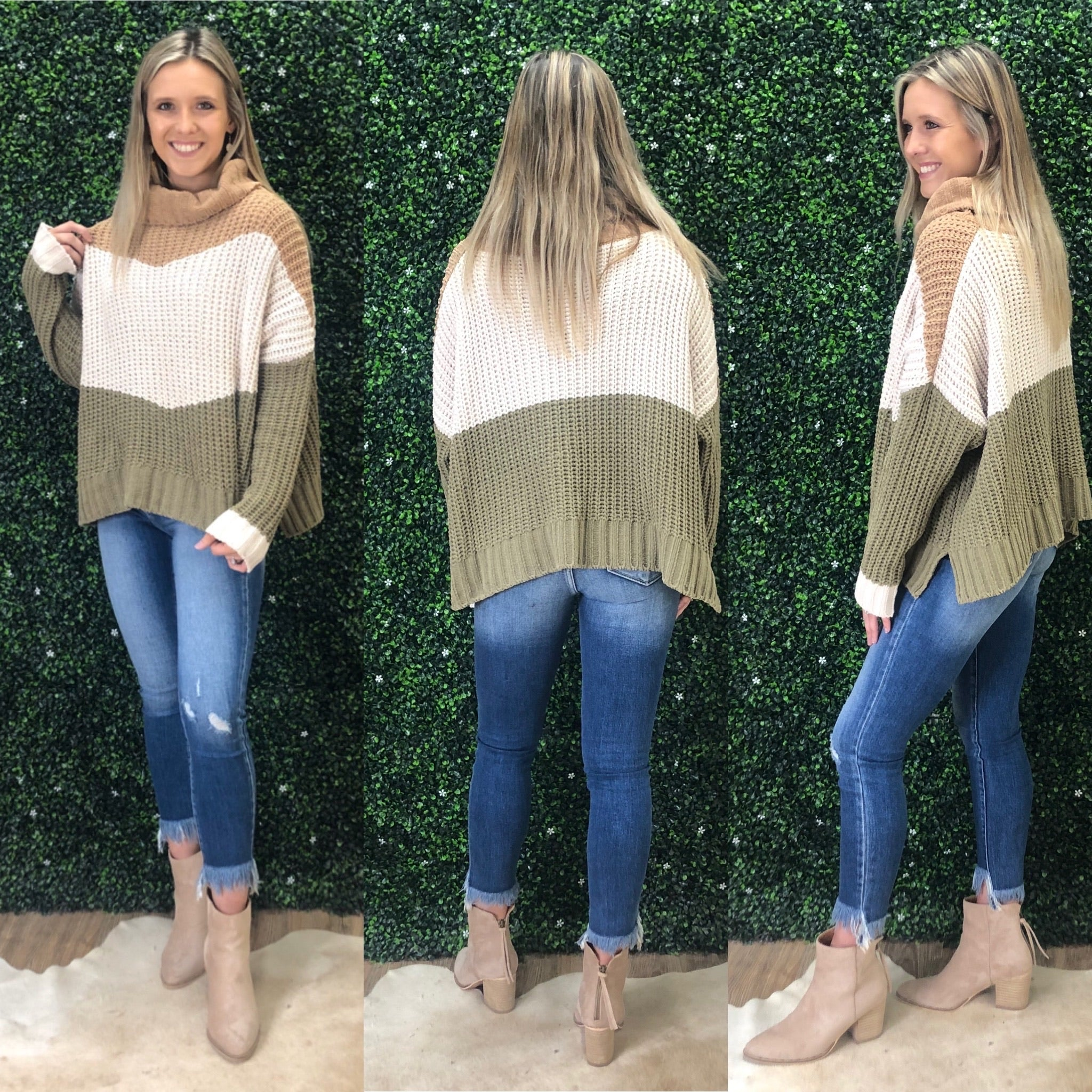 HAVE IT ALL COLOR BLOCK SWEATER
