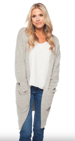 JOY GREY CARDIGAN