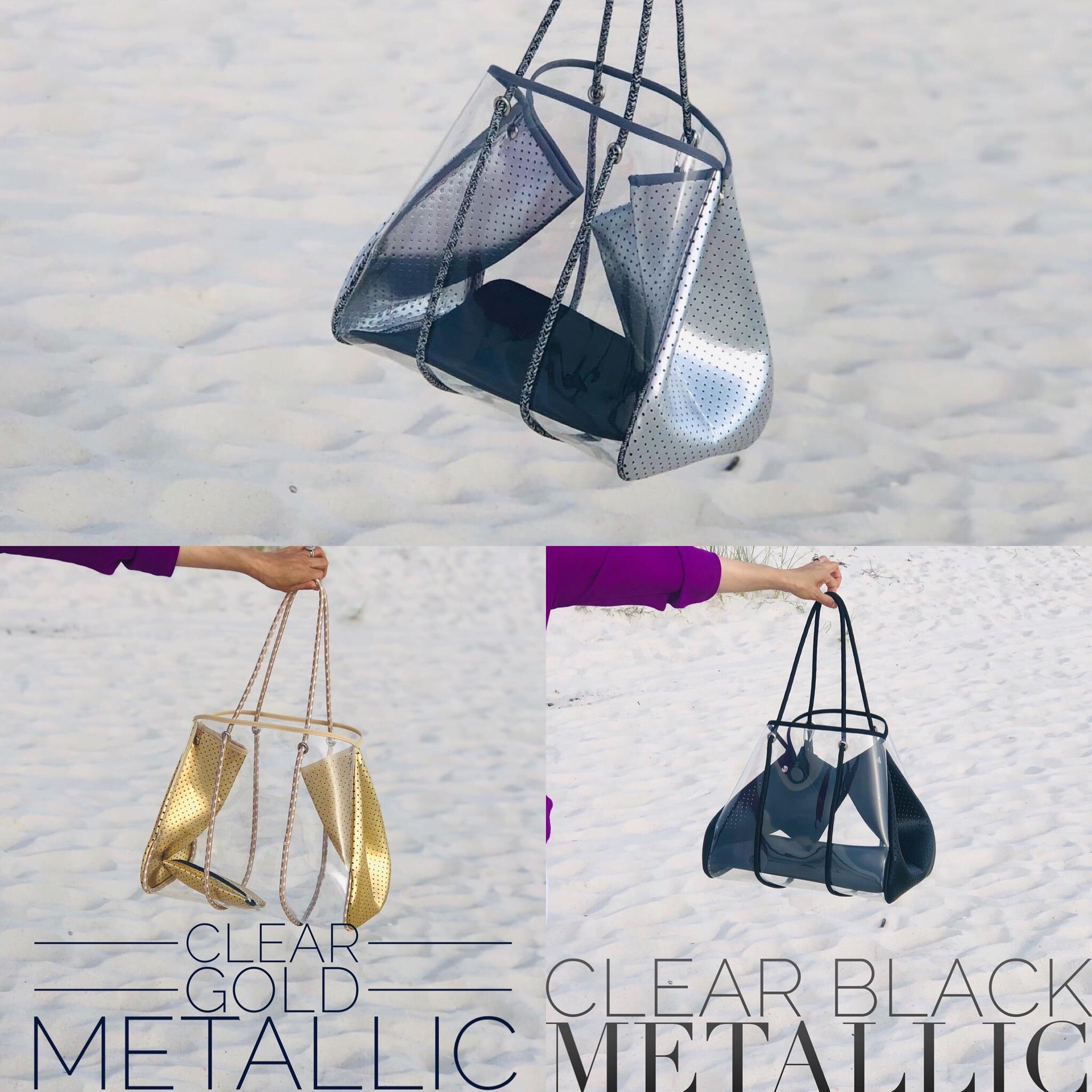 CLEAR NEOPRENE BAGS
