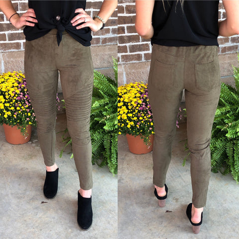 SUEDE ME LEGGINGS