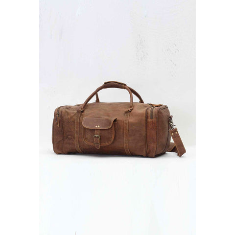 MEN's LEATHER DUFFLE