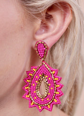 STARBURST SEED BEAD EARRINGS