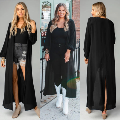 LORETTA BLACK DUSTER