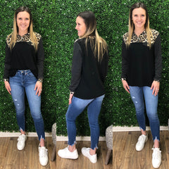 CHRISTIE ZIP LEOPARD TOP