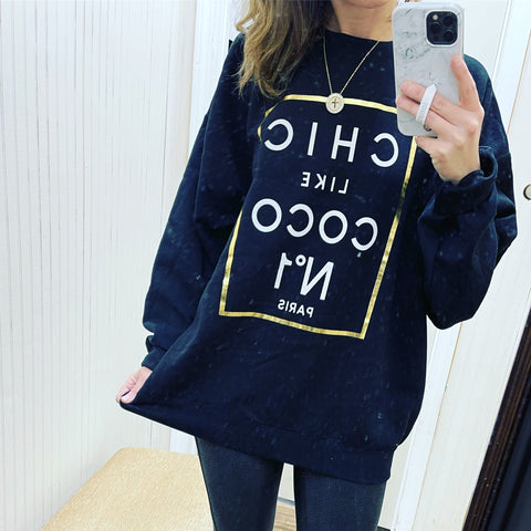 BLACK COCO GRAPHIC SWEATSHIRT