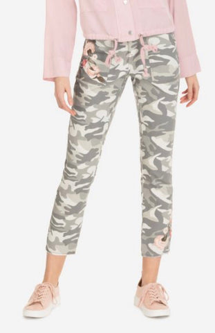 CAMO EMBROIDERED JEGGING PANT