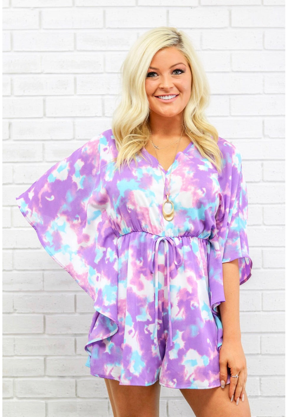 ERIN PURPLE CLOUDS ROMPER