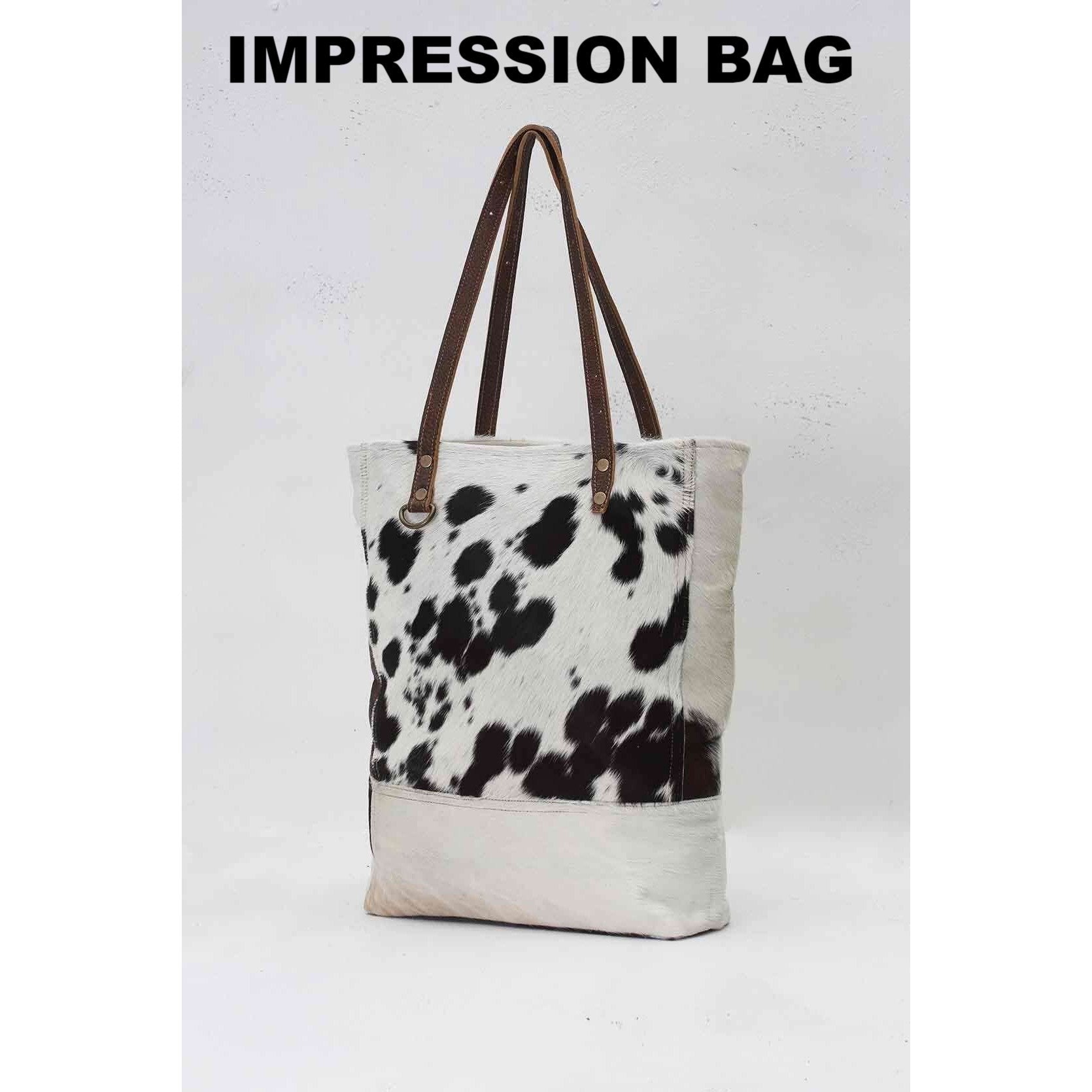 IMPRESSION COWHIDE BAG