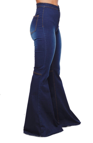 MOONSHINE DARK BLUE FLARES