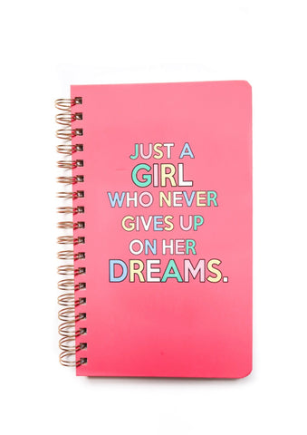 JUST A GIRL NOTEBOOK