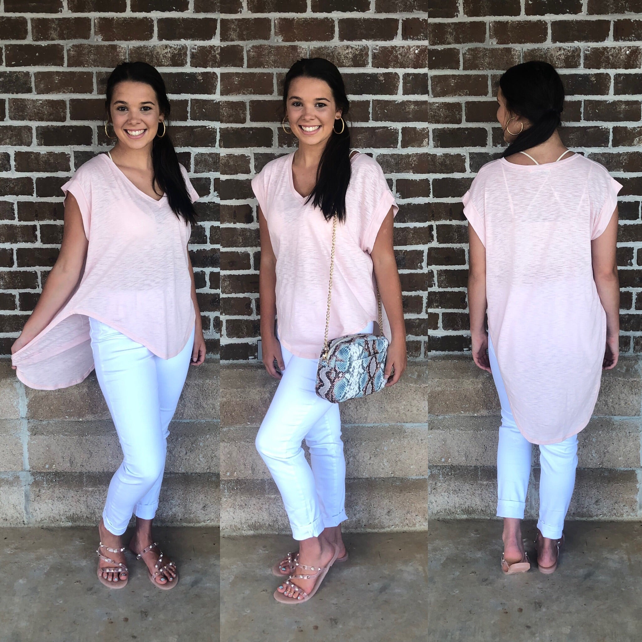 BLUSH HI LO TUNIC