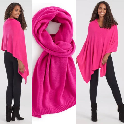 PINK PONCHO SCARF
