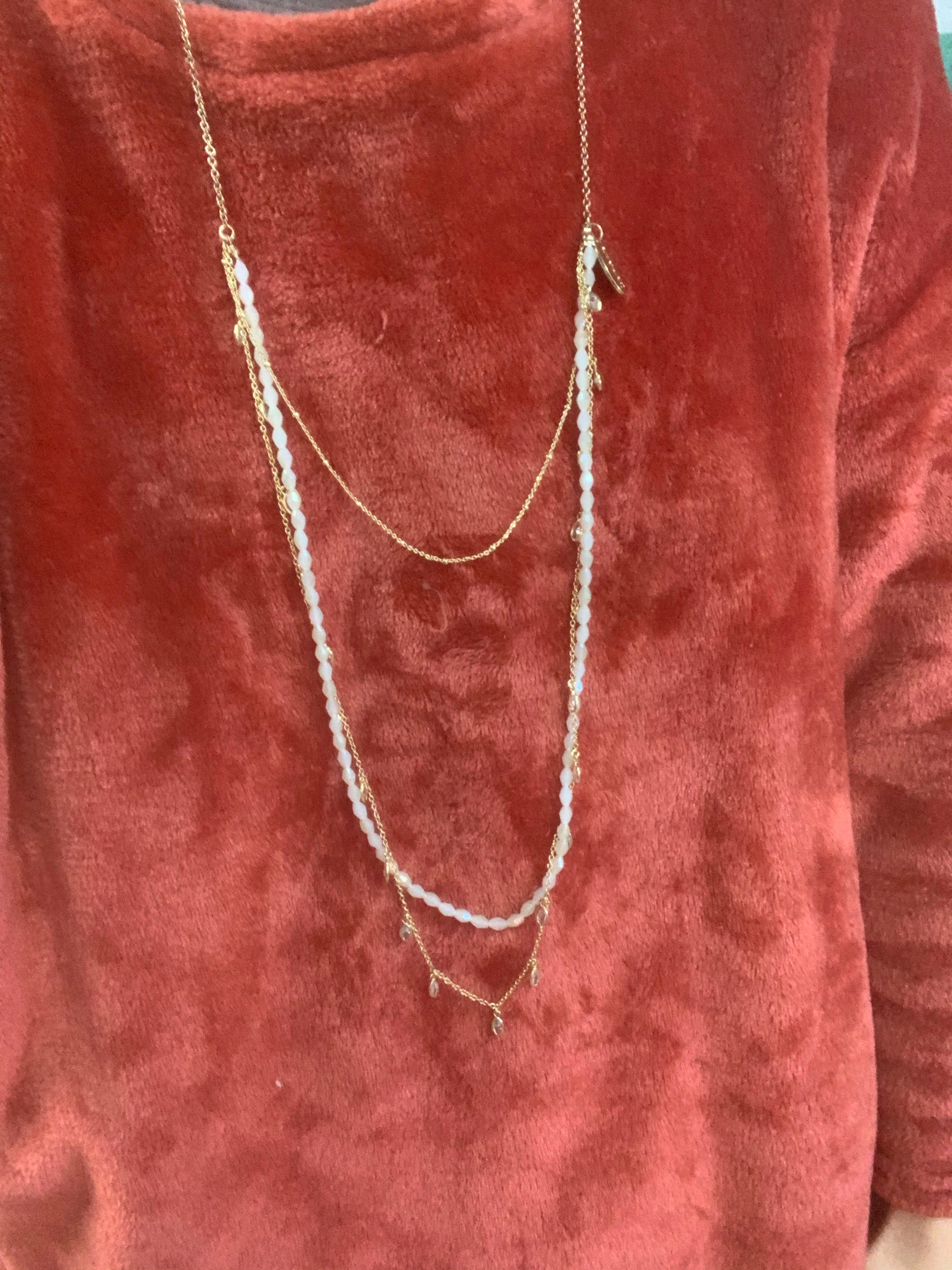 LoveAO Crystal/Gold Necklace
