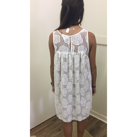 NATALIE CREAM LACE DRESS