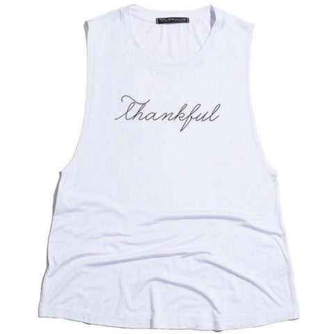 THANKFUL TANK- WHITE