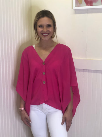 PINK BUTTON DOLMAN