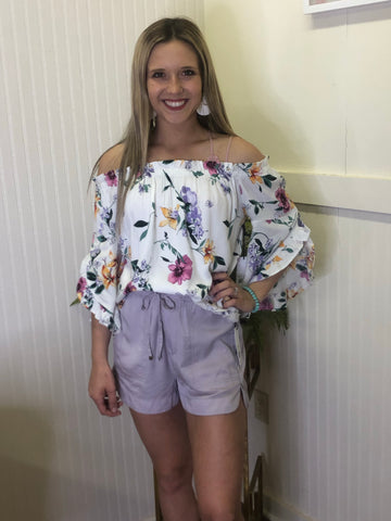 FLORAL BLOOM OFF SHOULDER