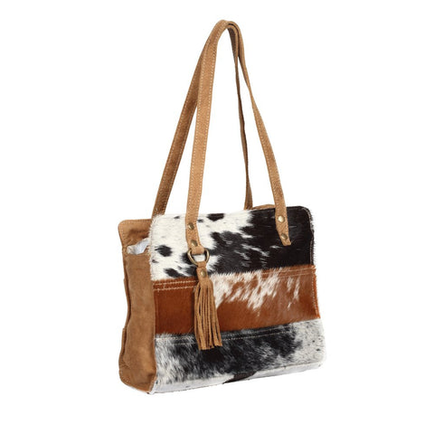 SHIRA SMALL STRIPE COWHIDE CROSSBODY