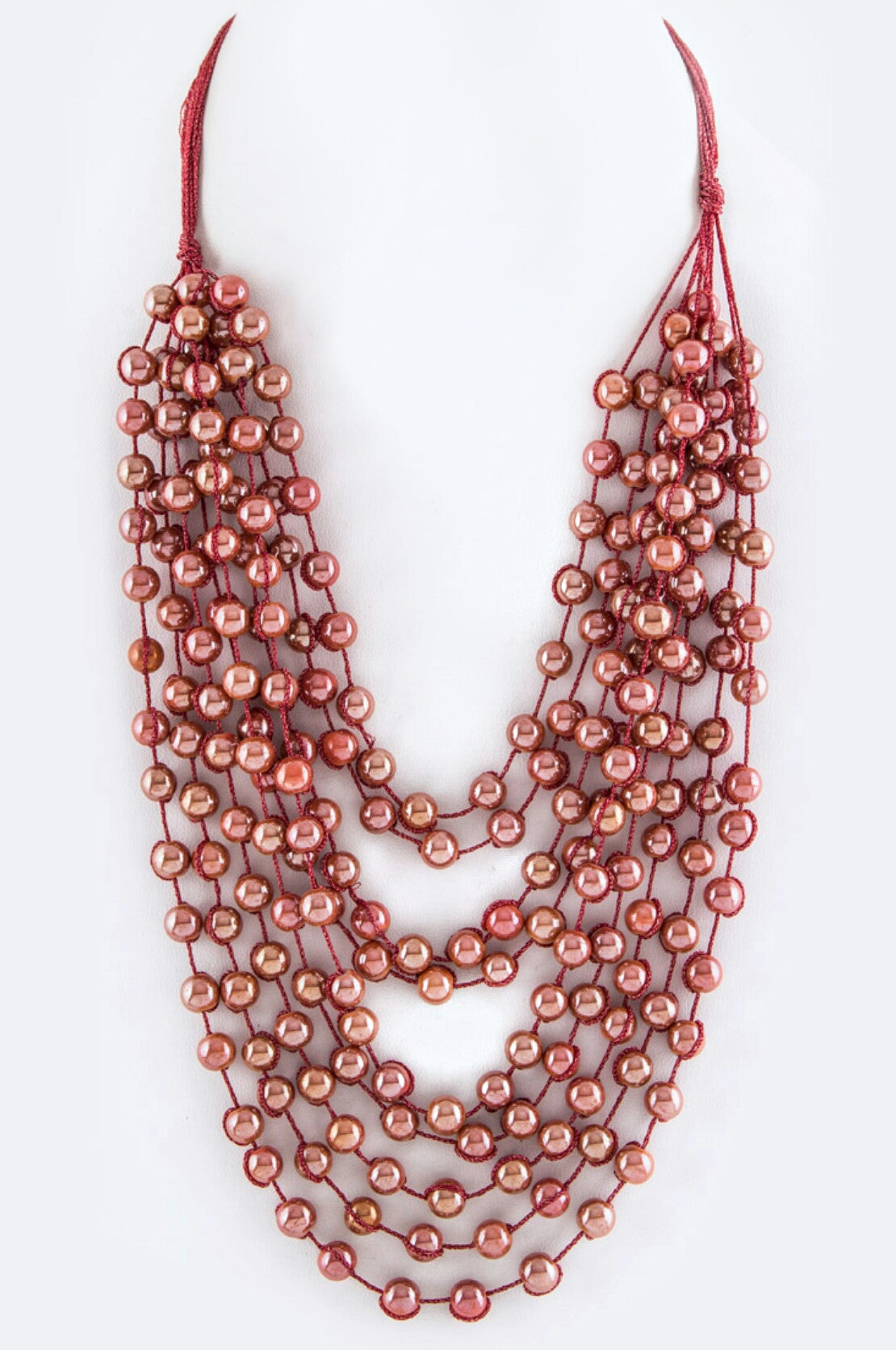 Layered Beads Statement Necklace