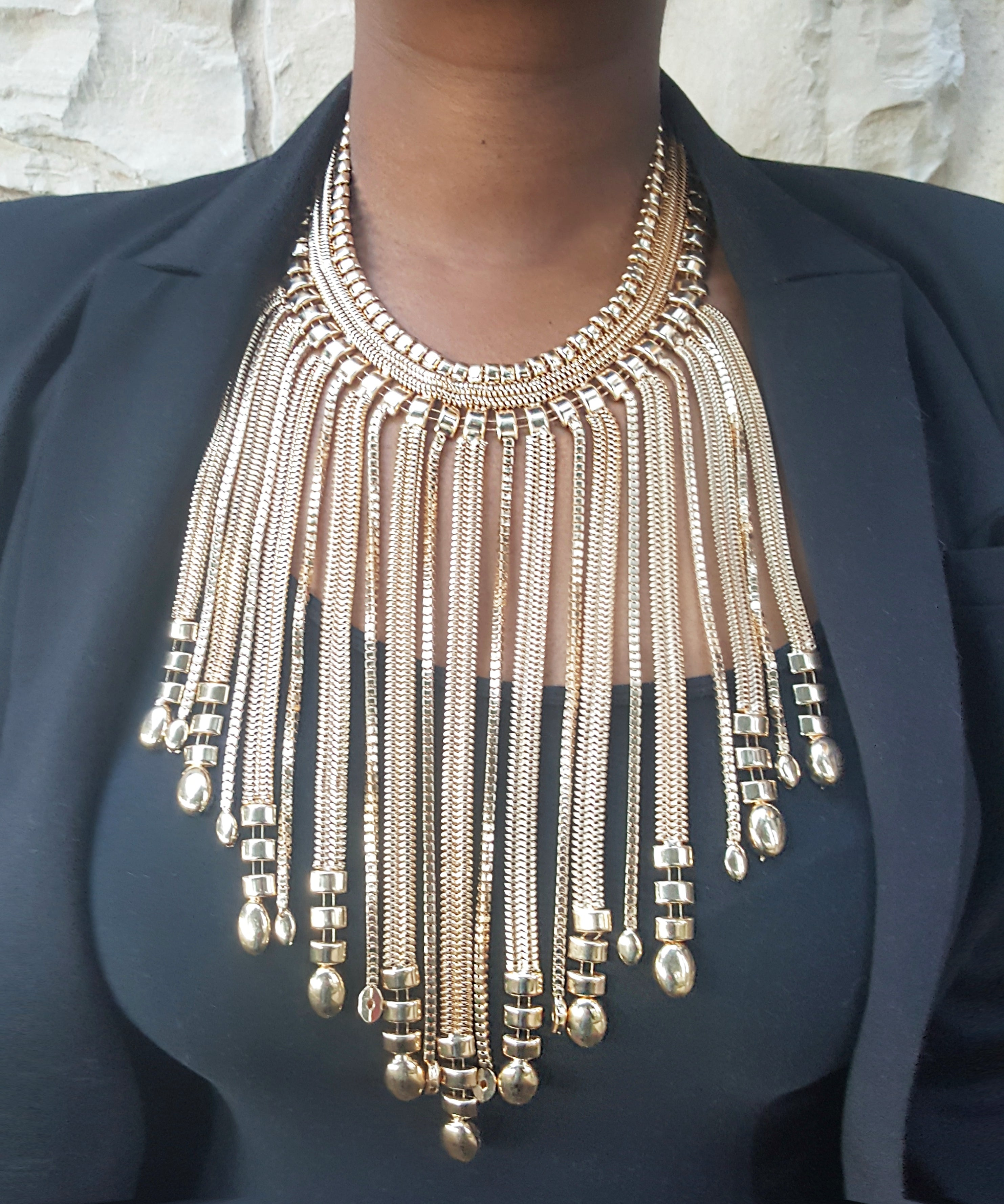 Fringe Chains Statement Necklace