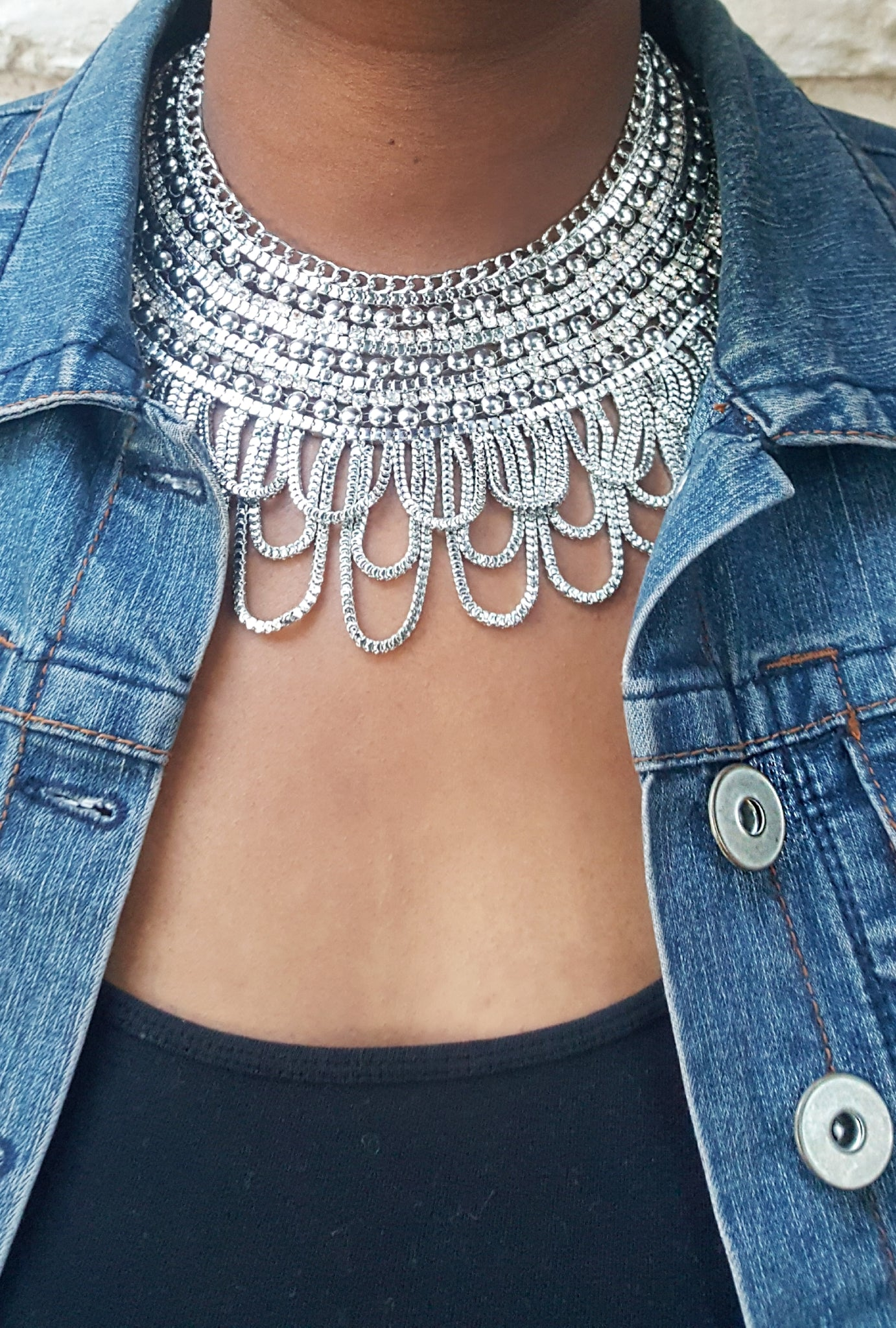 Layered Chains Statement Necklace