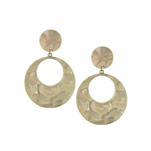Hammered Discs Earrings