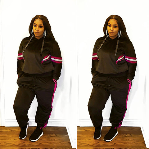 *Curvy* Out & About Velour Jogger Set