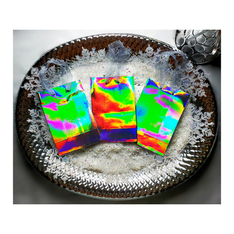 Silver Holographic Gift Bags (Set of 3)