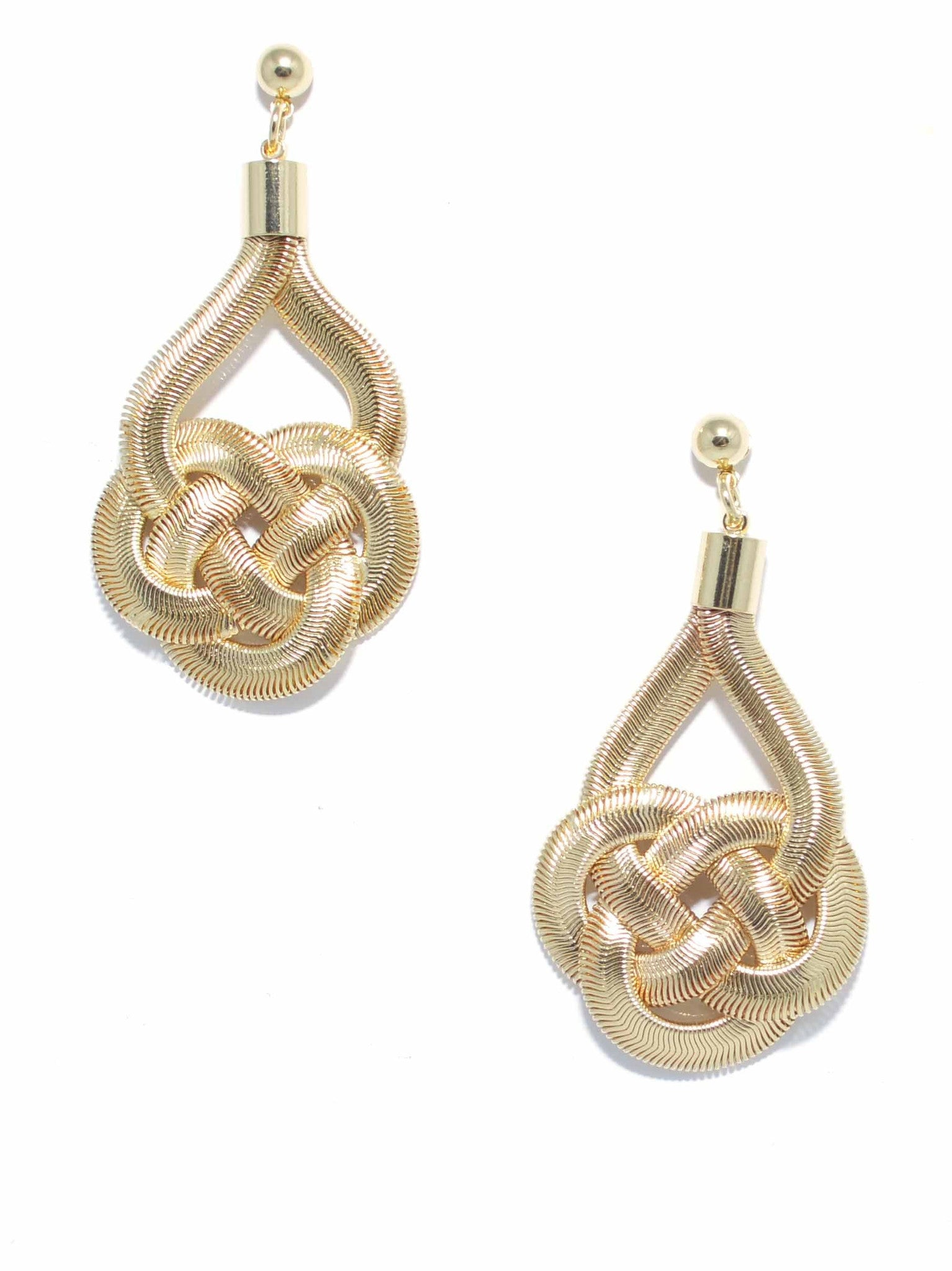 Knotted Drop Earring