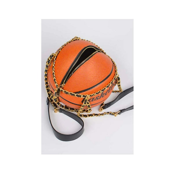 *PREORDER* (Ships 11/20) Classic Basketball Purse with Chains