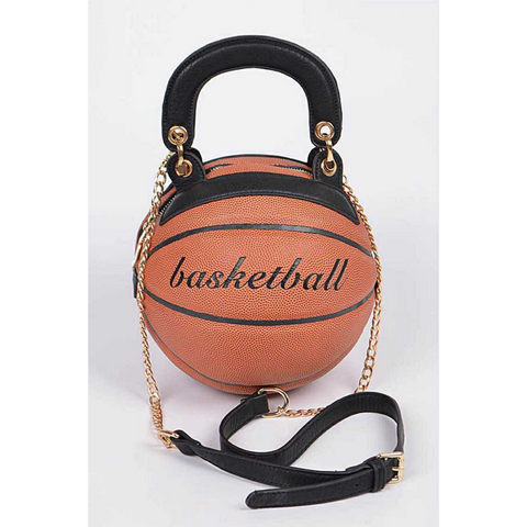 (RESTOCKED) *PREORDER* (Ships by 12/13) Classic Basketball Purse with Strap