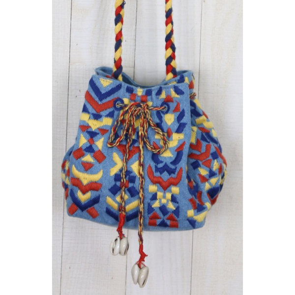 Take Me to Mexico Embroidered Bucket Bag